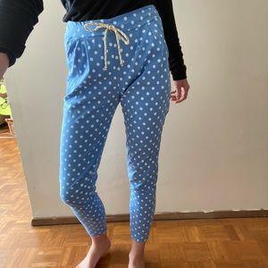 High waisted polka dot pants